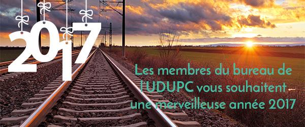L'UDUPC vous souhaite une merveilleuse année 2017