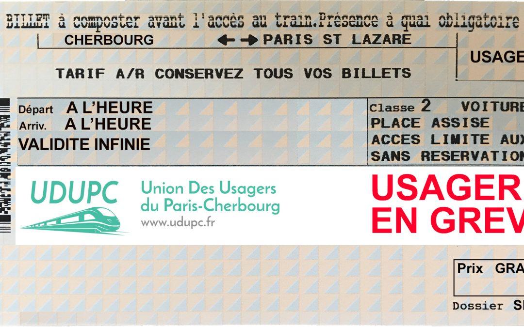 4ème semaine de grève de présentation du billet : Courriers aux élus et à la SNCF
