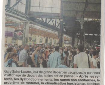 UDUPC - Panne d'affichage à Paris Saint-Lazare