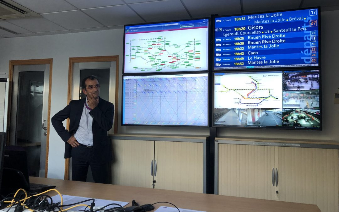 Visite de la cellule de gestion de crise de Paris Saint Lazare