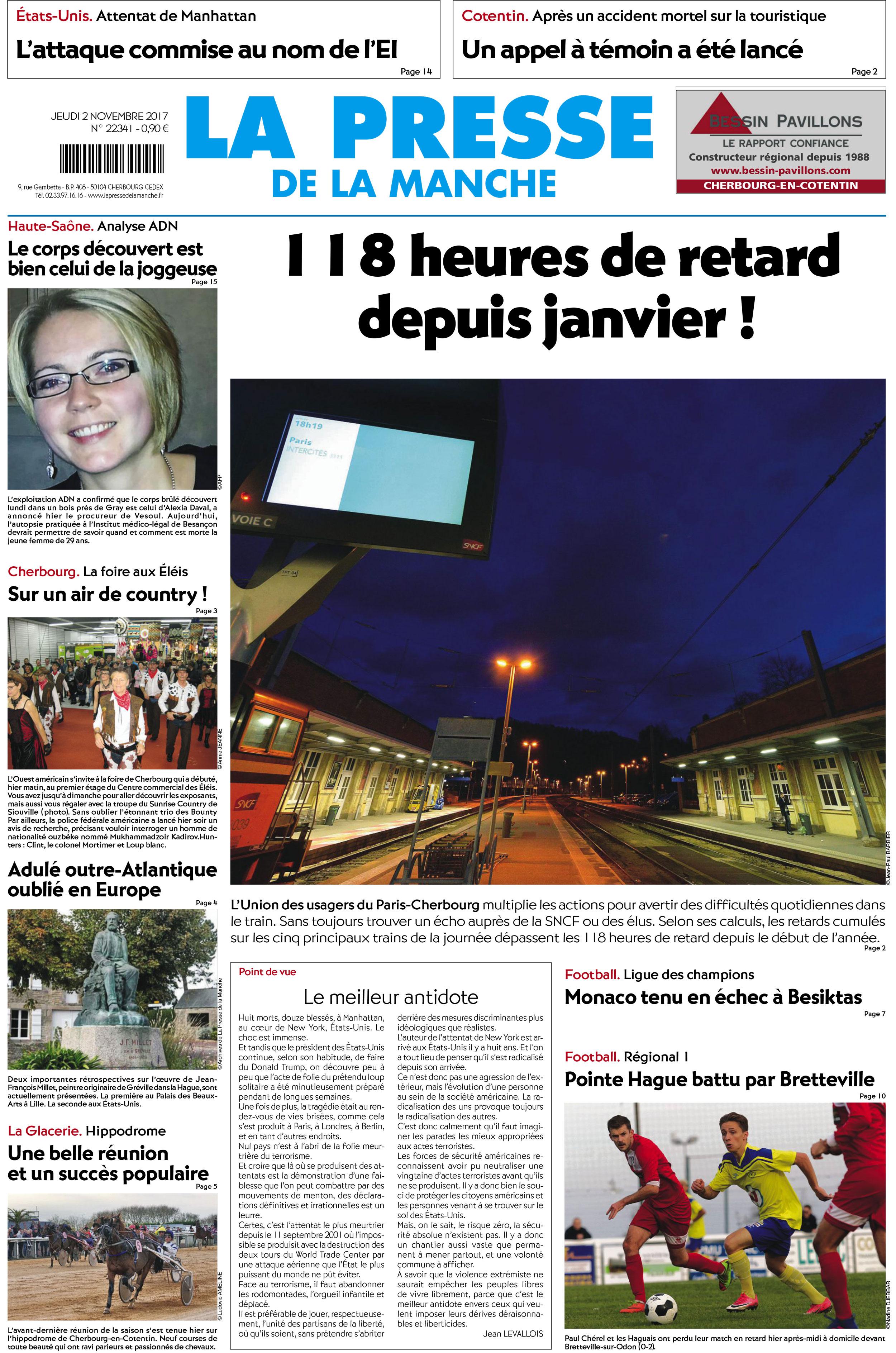 Presse de la Macnche - 02/11/2017 - 118 heures de retards