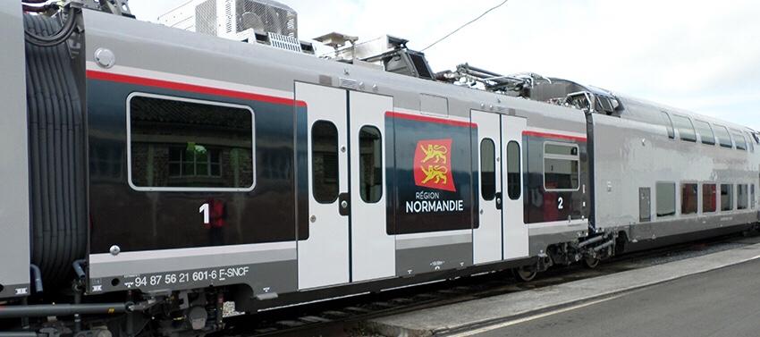 Les nouveaux trains normands en test