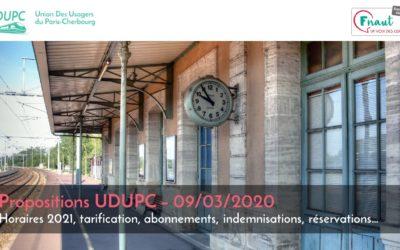 Découvrez les propositions de l'UDUPC pour améliorer le service ferroviaire sur la ligne Paris-Caen-Cherbourg